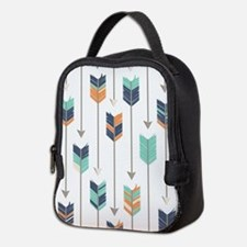 Tribal Arrows Pattern - Navy Or Neoprene Lunch Bag
