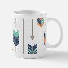 Tribal Arrows Pattern - Navy Orange and Mug
