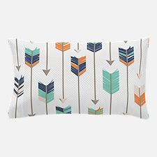 Tribal Arrows Pattern - Navy Orange an Pillow Case