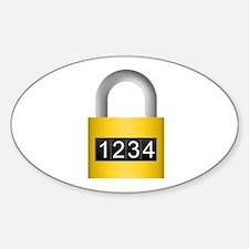 Combination lock Decal