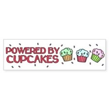 Powered By Cupcakes Bumper Sticker