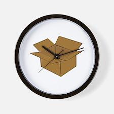 Cardboard Box Wall Clock