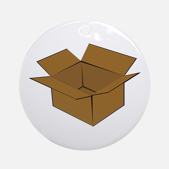 Cardboard Box Round Ornament