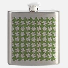 St. Patrick's Day Four Leaf Clover Pattern Flask