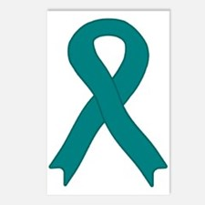 Teal Ribbon Postcards (Package of 8)