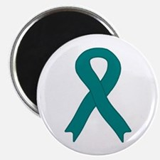 "Teal Ribbon 2.25"" Magnet (100 pack)"
