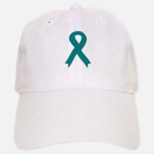 Teal Ribbon Baseball Baseball Cap