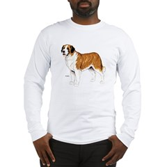 Saint Bernard Dog (Front) Long Sleeve T-Shirt