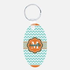 Turquoise Chevron with Oran Keychains