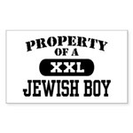 Property of a Jewish Boy Rectangle Sticker