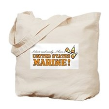 No candy - Marines Tote Bag
