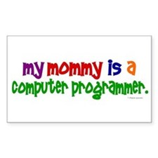 My Mommy Is A Programmer (PRIMARY) Decal