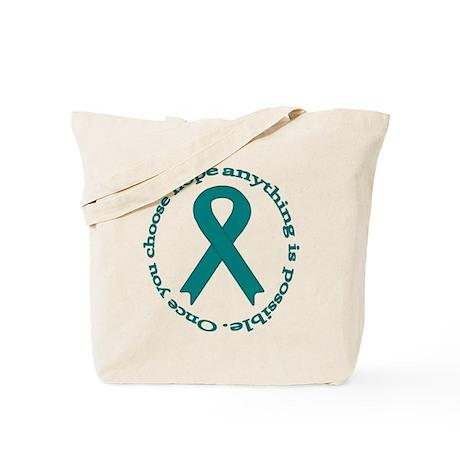 Teal Hope Tote Bag