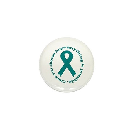 Teal Hope Mini Button (100 pack)