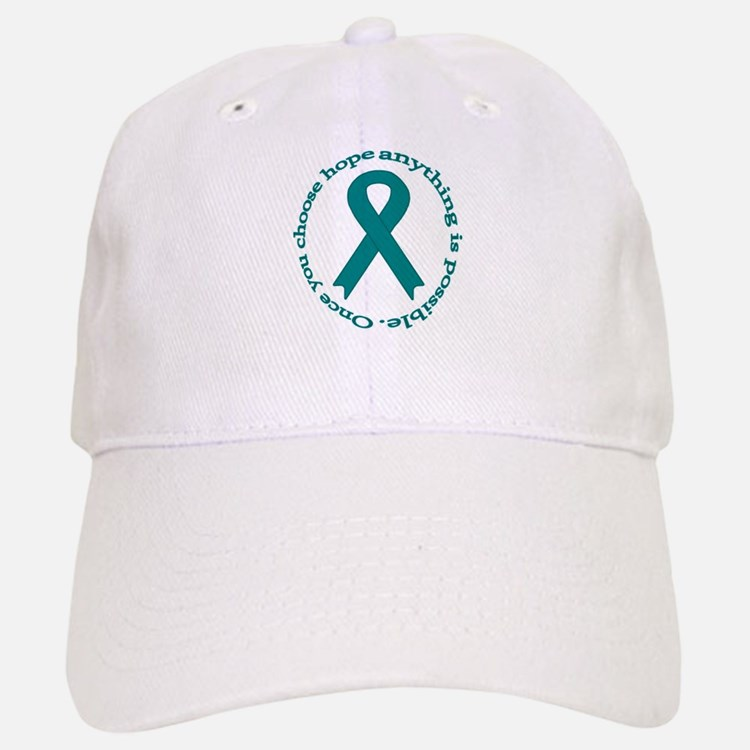Teal Hope Baseball Baseball Cap