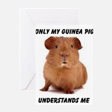 Unique Guinea pig Greeting Card