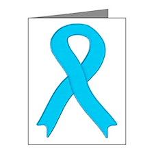 Light Blue Ribbon Note Cards (Pk of 10)