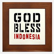 God Bless Indonesia Framed Tile