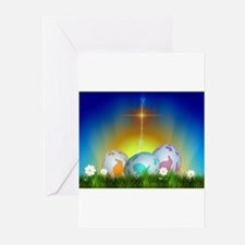 Cute Easter eggs Greeting Cards (Pk of 10)