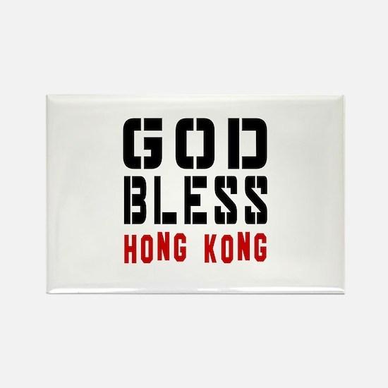 God Bless Hong Kong Rectangle Magnet