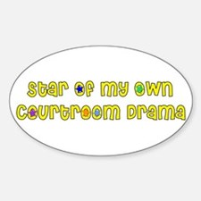 Court TV Star Oval Decal