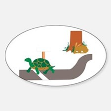 Tortoise and Hare race Decal