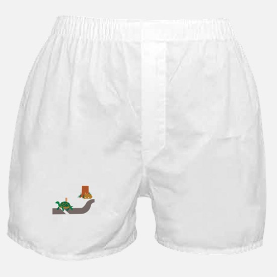 Tortoise and Hare race Boxer Shorts