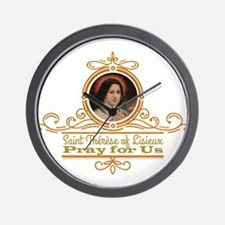 St. Therese Pray for Us Wall Clock