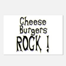 Cheese Burgers Rock ! Postcards (Package of 8)