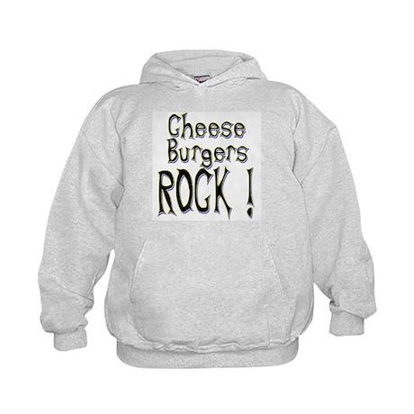 Cheese Burgers Rock ! Kids Hoodie