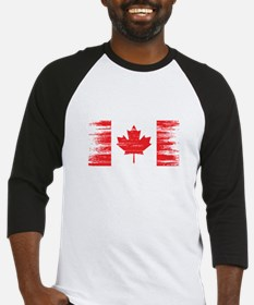 Distressed Canadian Flag Baseball Jersey