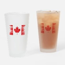 Distressed Canadian Flag Drinking Glass