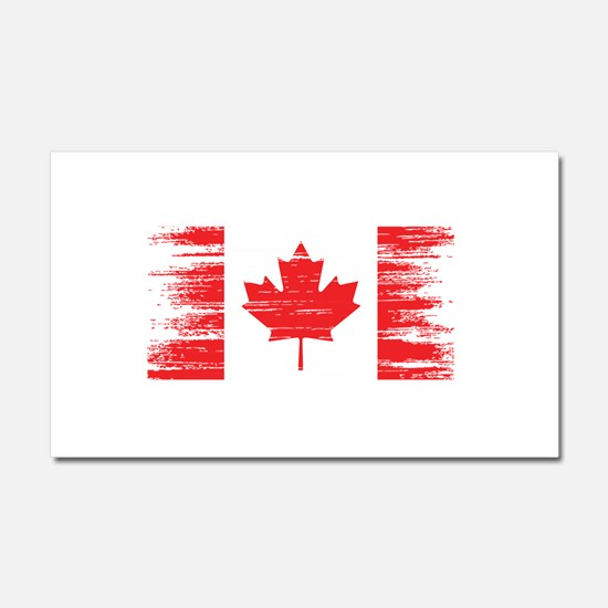 Distressed Canadian Flag Car Magnet 20 x 12