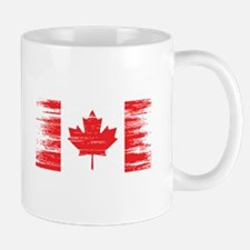 Distressed Canadian Flag Mugs