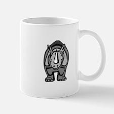 Black rhinoceros front profile Mugs