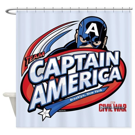 Captain america brooklyn shower curtain by captainamericacivilwar - Captain america curtains ...