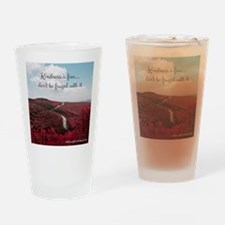 Give Kindness Freely Drinking Glass