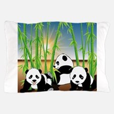 Panda Bears Pillow Case