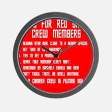 Tips For Red Shirt Crew Membe Wall Clock