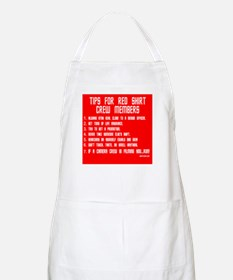 Tips For Red Shirt Crew Membe BBQ Apron