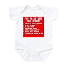Tips For Red Shirt Crew Membe Infant Bodysuit