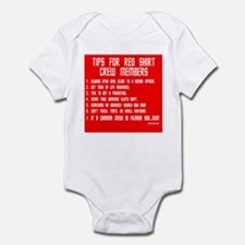 Tips For Red Shirt Crew Membe Infant Bodysuit