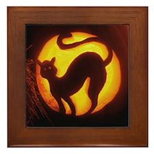 Cats Aglow Framed Tile