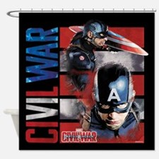 Marvel shower curtains marvel fabric shower curtain liner - Captain america curtains ...