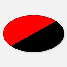 Anarcho-Syndicalist Flag Oval Decal