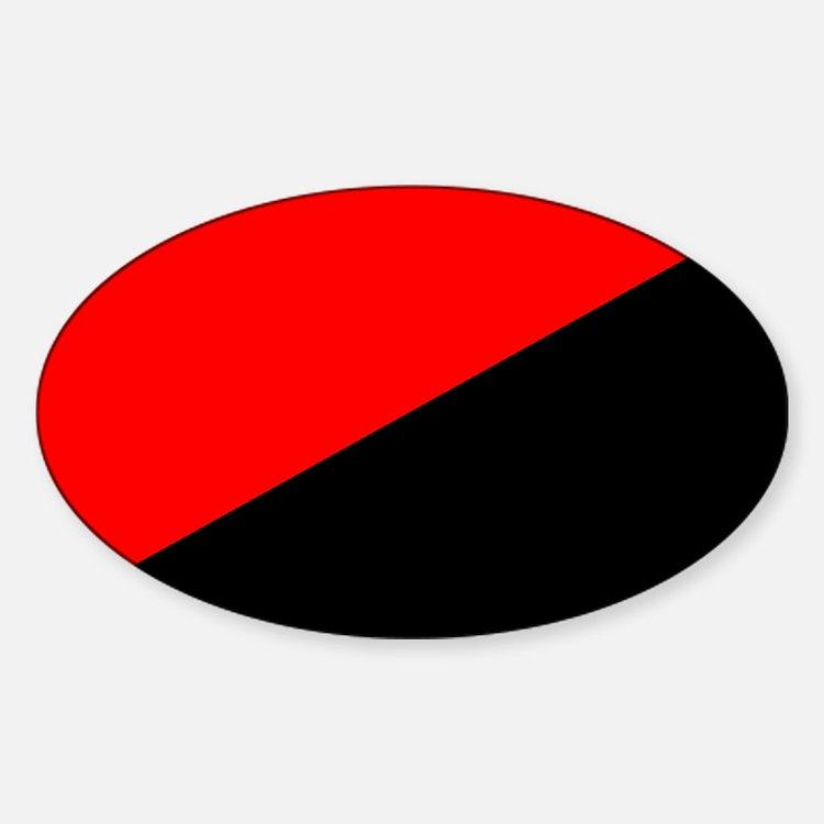 Anarcho-Syndicalist Flag Oval Decal