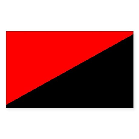 Anarcho-Syndicalist Flag Rectangle Sticker