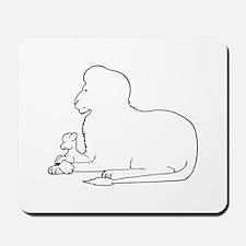 Lion and Lamb Frame Mousepad