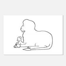 Lion and Lamb Frame Postcards (Package of 8)