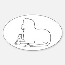 Lion and Lamb Frame Decal